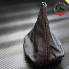 Golf Mk4 Bora Gti Td Tdi Rojo Stitch Negro Cuero Gear Stick Perilla Tapa Polaina