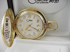Date New Reduced As-Is Colibri Goldtone Swiss Pocket Watch