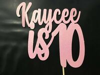 Custom Cake Topper 10th Birthday Any Name/Word or Colour Personalised Customised