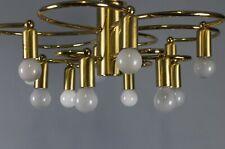 12 Flammes Sciolari Cosack Design Spoutnik Spider Mid Century Laiton Lampe 70's