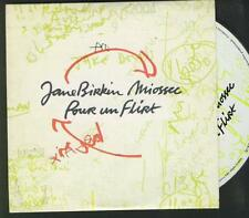 JANE BIRKIN & MIOSSEC Pour Un Flirt  FRENCH PROMO CD SI MICHEL DELPECH