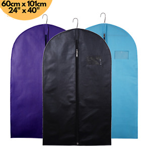 40'' Suit Cover Clothes Breathable Mens Garment Travel Zipped Dress Storage Bags