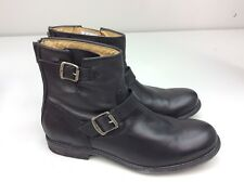 FRYE Tyler Engineer Boot Black Soft Vintage Leather Men's size 9.5 D