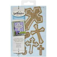 Crosses 2 Steel Dies Spellbinders Craft Die Cut Easter,Baptism,Wedding S5093