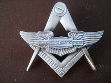 freemason, harley wings widows sons, masonic vest badge