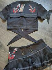Living Dead Souls nautical anchor mini skirt outfit Sailor Punk Rockabilly NEW