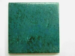 "Soul World USA 4-1/4"" Square Hand Painted Turquoise Green Ceramic 1 Wall Tile"