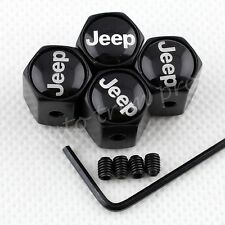 4PCS Car Air Dust Wheel Tyre Tire Valve Stem Cap Cover Trim For Jeep Accessories