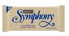 New listing 8 Hersey Symphony w/Almonds &Toffee Milk Chocolate Xl Size 4.25 oz Lot of 8