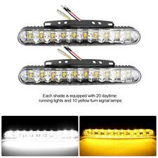 2 Stück Auto LED Tagfahrleuchten Streifen DRL Tagfahrlicht Lampe Universal Weiß