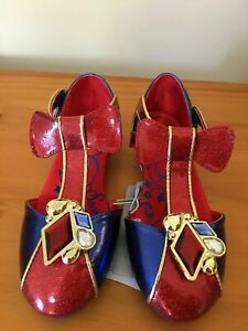 NWT Disney Store Snow White Costume Shoes Princess Girls 7/8,9/10