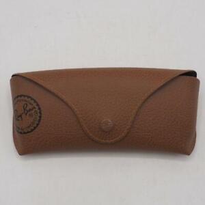 Ray Ban Eyeglass Sunglass Case Holder Tan Pebble Leather dq