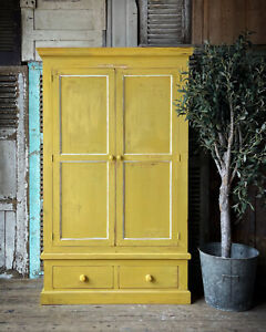 Lovely Painted Pine Wardrobe