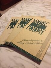 Music of Today Choral Adaptations by Harry Wilson Lot of 3 Satb Chorus Books