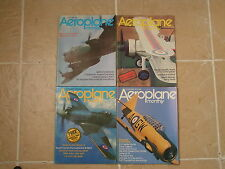 4 x Aeroplane Monthly Vintage 1970's Magazines in Excellent Condition