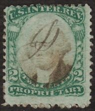 Scott #RB2b, US Postage, 2 ct Stamp, Proprietary, Green paper, 1871-4, Used