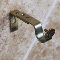 2 STÜCKE Bronze Einstellbare Metall Vorhang Gardinenstange Halterung Drapie N5K4