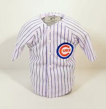 """Chicago Cubs 6"""" Mini Home Pinstripes Baseball Jersey & PVC Bust Display"""