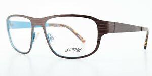 JF Rey Brille JF2473 9020 55-18 125 Braun Blau Patented Designer Metal France