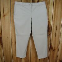 Talbots Pants The Weekend Chino Womens 16P Khaki Beige Cotton Blend Flat Front