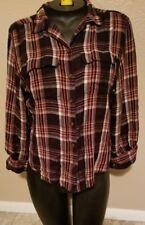 Lauren Ralph Lauren LRL Red Plaid Button Up Shirt Size 8 Petite Women's L/S