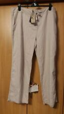 "L@@K M&CO NWT SIZE 20/30"" LEG LINEN DRESS UP OR DOWN SUMMER HOLIDAY TROUSERS"