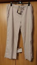 "L@@K NWT M&CO SIZE 20/30"" L LINEN BLEND SUMMER HOLIDAY TROUSERS DRESS UP OR DOWN"
