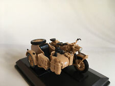 BMW B-R75 1941 Africa Korps Rommel, Motorcycle Team, Cararama Model 1:43