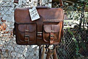Vintage Messenger-Bag Büchertasche Laptoptasche Kuriertasche geöltes Leder
