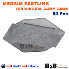 50 X Medium Fastlink Wire Joiners Fence Fencing Joiner Gripple Tensioning Tool