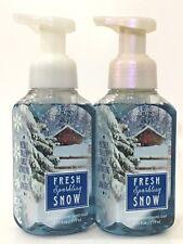 2 Fresh Sparkling Snow Gentle Foaming Hand Soap Bath & Body Works Lot 8.75 Oz Ea