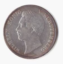 alte Münze - Doppeltaler - Württemberg - Wilhelm I. - 1843 - Silber - AKS 62