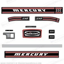 Mercury 1971 20hp Outboard Decal Kit - Discontinued Decal Reproductions in Stock