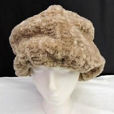 Vintage 1960s or 70s Lord & Taylor Made in Italy Slouch Beret Hat Beige