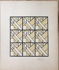 """L. LACHAISE """"ENCRE ET GOUACHE ORIGINALE ART DÉCO"""""""