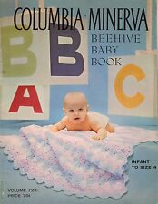 Columbia Minerva 723 Beehive Baby Book Knitting Crochet Patterns Layette 1960s