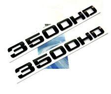 2x Silverado Sierra Black Front Door 3500HD Nameplates EMBLEMS Badges 3500HD FU