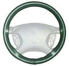 Wheelskins Green Genuine Leather Steering Wheel Cover for Ford (Size AX)
