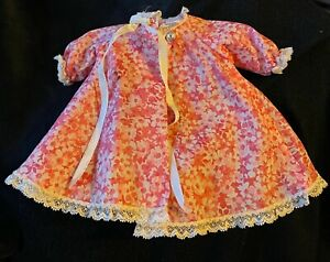 Vintage Madame Alexander-kins Floral Robe Sold Separately from Doll Damaged
