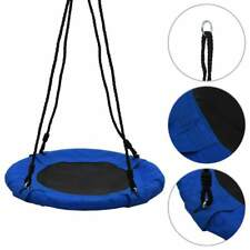 vidaXL Swing 60cm Blue Nest Rope Swing Spider Web Net Outdoor Garden Seat
