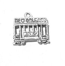 """Sterling Silver  925 Street Car With New Orleans Charm 3.3g H 5/8"""" X W 3/4"""" SALE"""