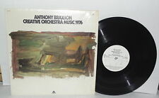 ANTHONY BRAXTON Creative Orchestra Music 1976 LP Vinyl White Label PLAYS WELL