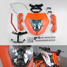 Orange Headlight Mask sticker Light Assembly Bracket For KTM 125 200 390 Duke MO
