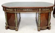 Desk, Empire Style Oval Bureauplat, 20th C., With Bronze Moounts, Gorgeous!