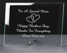 Personalised Engraved Glass Plaque Nan Nanny Mothers Day Gifts Nan Mum Mother