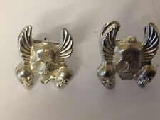 Skulls And Wings GT45 Cufflinks Made From English Modern Pewter