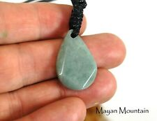 SMALL SIMPLE GUATEMALAN JADEITE MINT JADE NECKLACE pendant cab cabochon SN-024