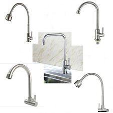 Stainless Steel Brushed Nickel Kitchen Faucet Single Hole Sink Only Cold Tap