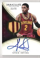 Kyrie Irving 2013-14 Panini Immaculate Autograph 2-Color Patch 21/75 Auto Relic