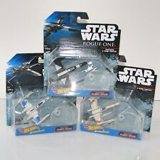 "Star Wars Hot Wheels X-Wing Fighters 3 x Die-cast Toys  3"" (Partisan Red Five)"